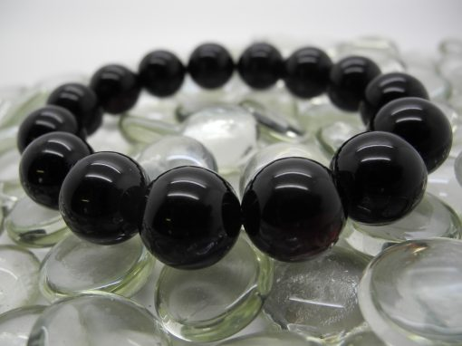 Natural Baltic amber round beads bracelet BRA01