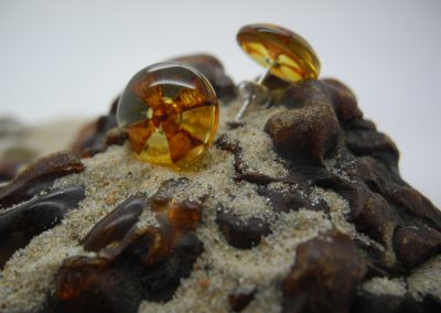 Natural Baltic amber earrings EAR03