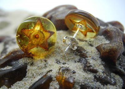 Natural Baltic amber earrings EAR01