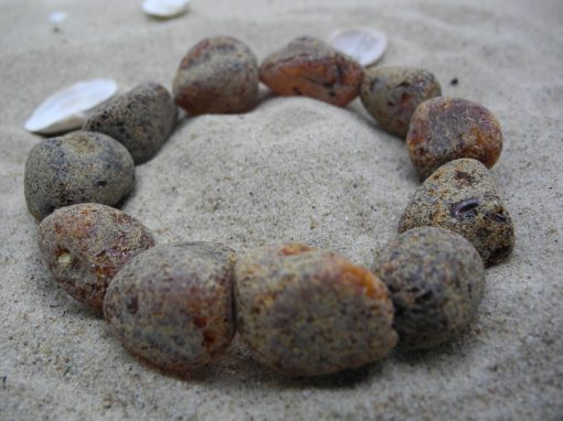 Natural Baltic rough amber bracelet BRA15