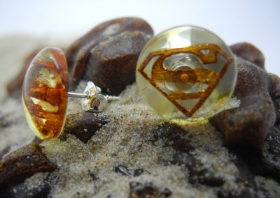 Natural Baltic amber earrings EAR07