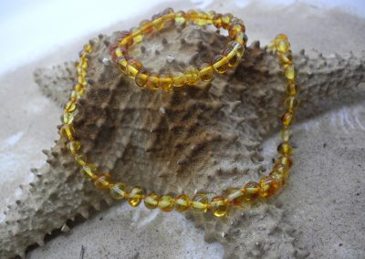 Natural Baltic amber bracelet and necklace BA02