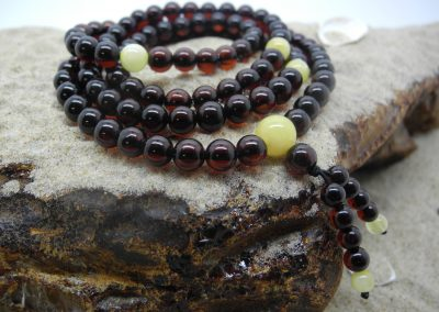 Natural Baltic amber Buddhist rosary RO05