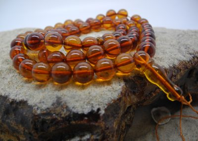 Natural Baltic amber Buddhist rosary RO10