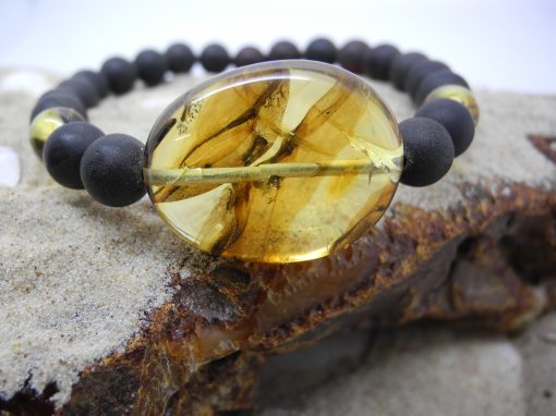 Natural Baltic amber bracelet BRA29