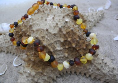 Natural Baltic amber necklace and bracelet BA06