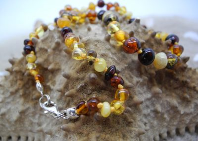 Natural Baltic amber Baby necklace BA07