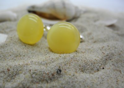 Natural Baltic amber cufflinks AC03