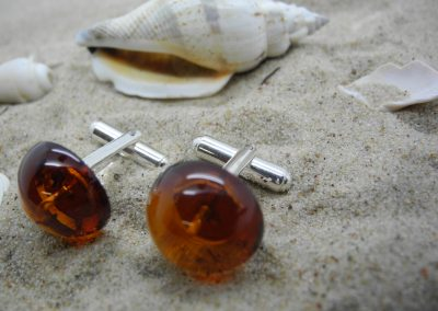 Natural Baltic amber cufflinks AC01