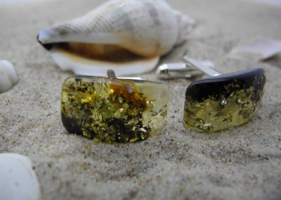 Natural Baltic amber cufflinks AC02